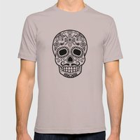 Mexican Skull - White Ed… Mens Fitted Tee Cinder SMALL