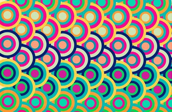Circle colors Art Print