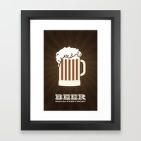 BEER solves everything Framed Art Print