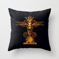Burtons Totem Throw Pillow