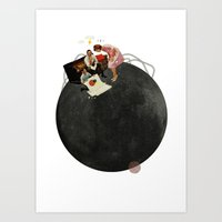 Life on Earth  | Collage | White Art Print