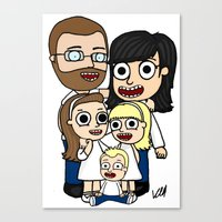 Liz's Family Canvas Print