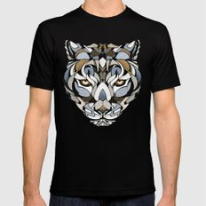 Leopard SMALL Mens Fitted Tee Black