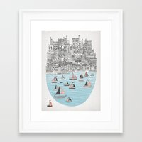 Framed Art Print featuring Joppa by David Fleck