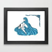 Aquarius / 12 Signs Of T… Framed Art Print