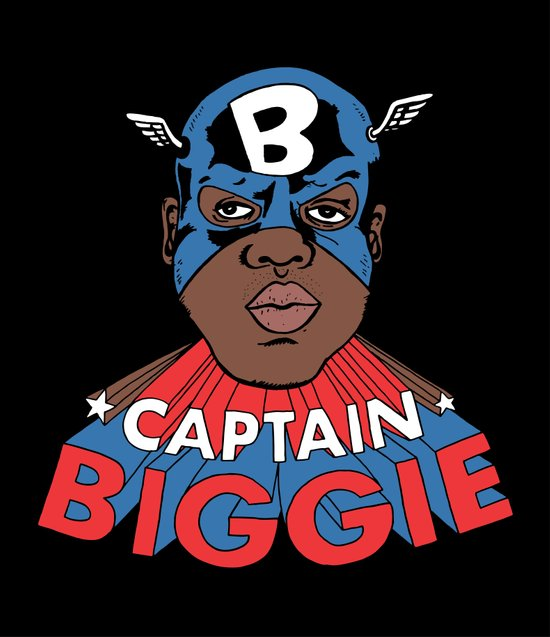 Captain Biggie Art Print