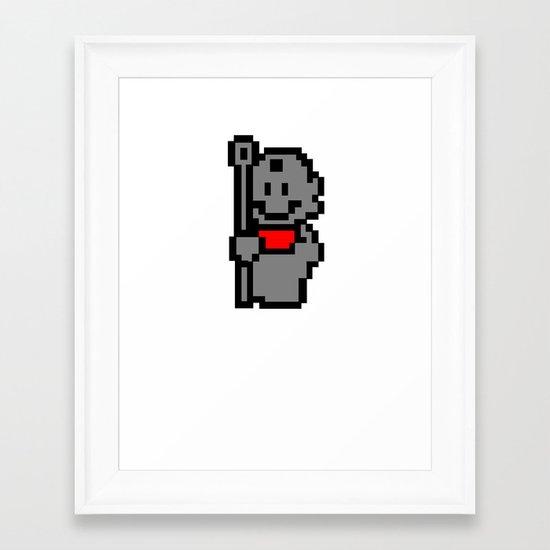 Tanooki Stone Suit Framed Art Print