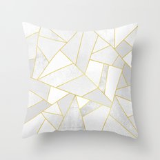 White Stone Throw Pillow