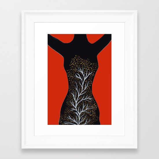 Body of roots Framed Art Print