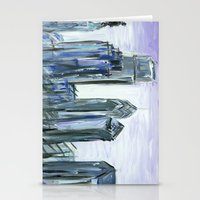 Gray Philadelphia Skylin… Stationery Cards