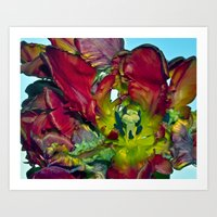 Still Life With Red Tuli… Art Print