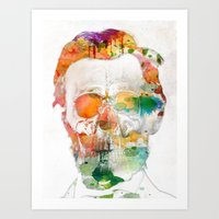 Abraham (Abe) Lincoln Skull Watercolor Art Print