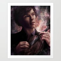 sherlock Art Prints featuring Sherlock by jasric