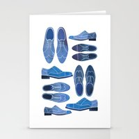 Blue Brogue Shoes Stationery Cards