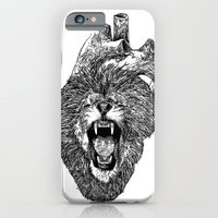 iPhone & iPod Case featuring A Lion Heart Roars by BPARSH
