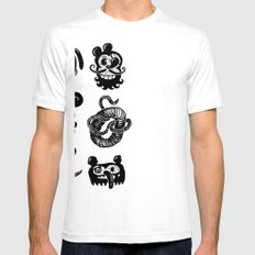 Binckey Mouse Mens Fitted Tee SMALL White