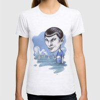 spock Womens Fitted Tee Ash Grey SMALL