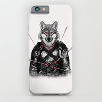 iPhone Cases featuring Wounded Lone Wolf by Rendra Sy
