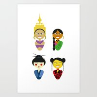 Asian Dolls Art Print