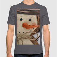 Snowman  Mens Fitted Tee Asphalt SMALL