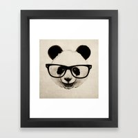 Panda Head Too Framed Art Print