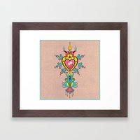 The Heart Rules Framed Art Print