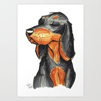 Brush Breeds-Black-and-Tan Coonhound Art Print