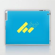 I Like You Graphik: Yellow Type Laptop & iPad Skin