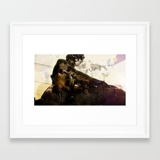 Black idol Framed Art Print