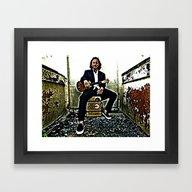 Eddie Vedder | Oil Paint… Framed Art Print