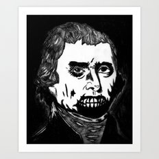 03. Zombie Thomas Jefferson  Art Print