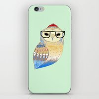 Hipster Owl iPhone & iPod Skin