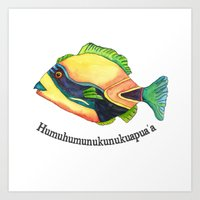 H Is For Humuhumunukunuk… Art Print