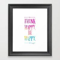 Happy Framed Art Print