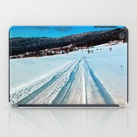 Winter Road Into The Mou… iPad Case