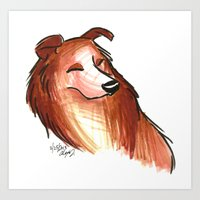 Brush Breeds-Rough Colli… Art Print