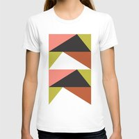 Pink, lime black triangle pattern (2015) Womens Fitted Tee White SMALL