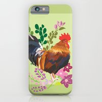 iPhone & iPod Case featuring rooster by Caracheng