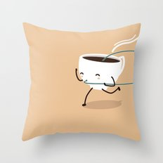 Seb, the cup of coffee Throw Pillow