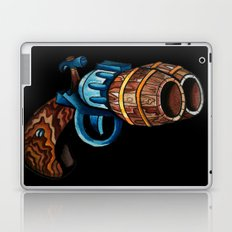 Black Double Barrell Laptop & iPad Skin