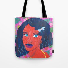 Strawberry Girl Tote Bag