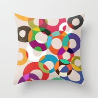 Loop Hoop Throw Pillow