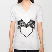 Zebra Love Unisex V-Neck