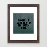 With You II Framed Art Print