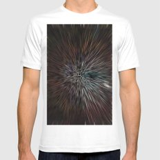 3D abstract Art Mens Fitted Tee SMALL White