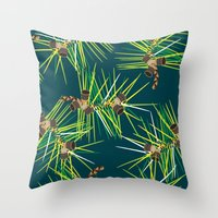 Perennial Needles Throw Pillow