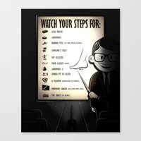 Watch Your Steps For (op… Canvas Print