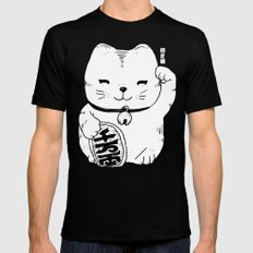 FORTUNE CAT SMALL Mens Fitted Tee Black