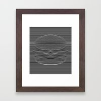 Cheeseburger Optical Ill… Framed Art Print