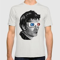 Doctor Who :: Doomsday Mens Fitted Tee Silver SMALL